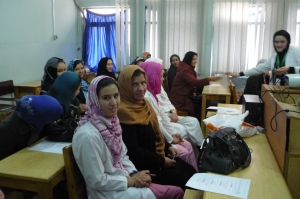 Midwifery team meeting, Kabul